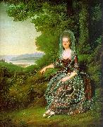 Jens Juel Madame de Pragins oil painting